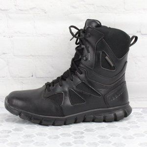 Reebok Leather Waterproof Combat Boots Size 9 M